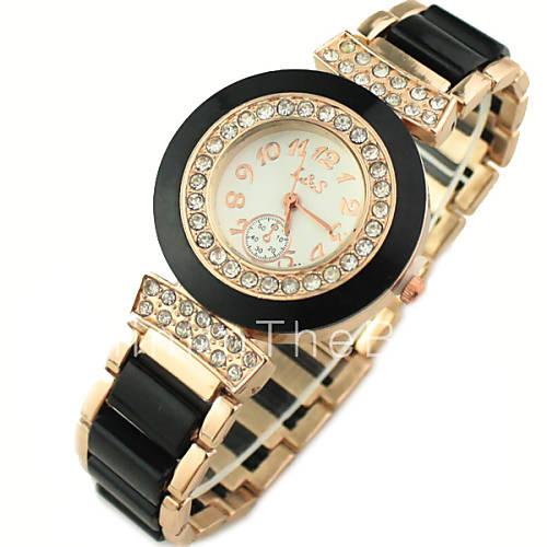 women s decor gold band quartz bracelet