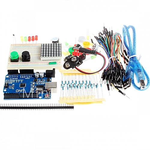 New starter kit uno r mini breadboard led jumper wire