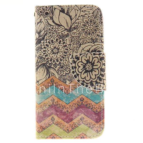 Цветы дизайн pu кожаный чехол для всего