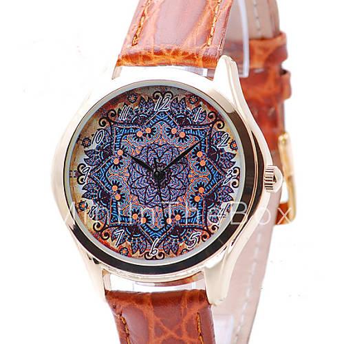 Horloge voor vrouwen bloem patroon boho chique stijl vrouwen kijken geschenken voor vrouwen - Stijl land keuken chique ...