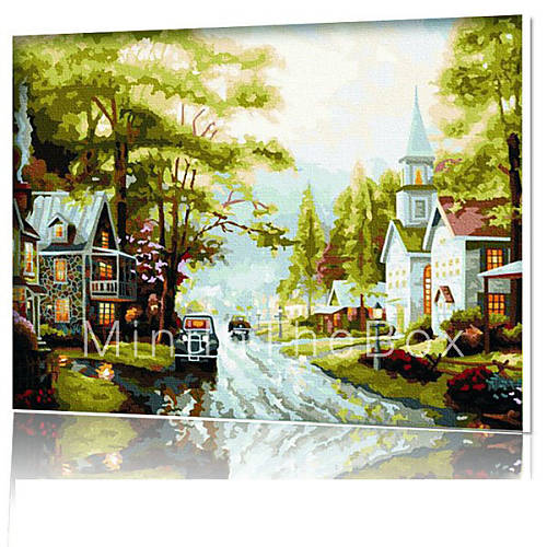 Diy Digital Oil Painting Frame Family Fun Painting All By