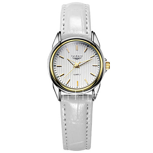 s casual genuine leather water resistant wrist
