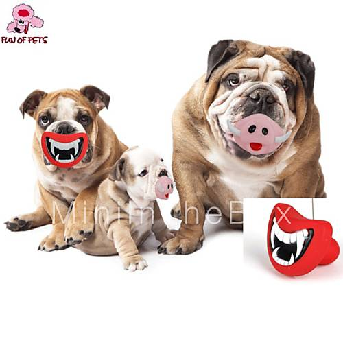 Lip Dog Toys : Dog toy pet toys chew lips rubber red pink