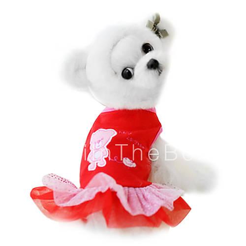 Cani vestiti rosso abbigliamento per primavera