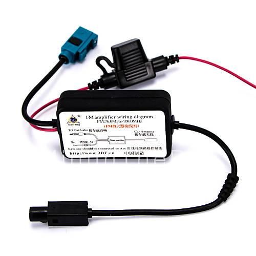 Autom vel de r dio antena de sinal fm amplificador de - Amplificador de antena ...