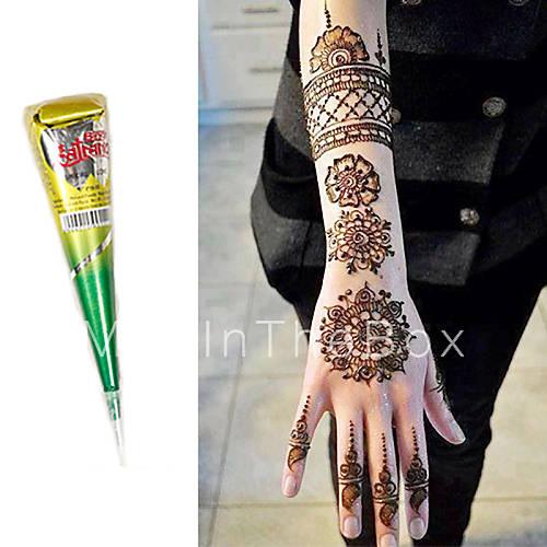 Henna Ink Kit: Natural Herbal Henna Cones Body Art Mehandi Ink Jagua