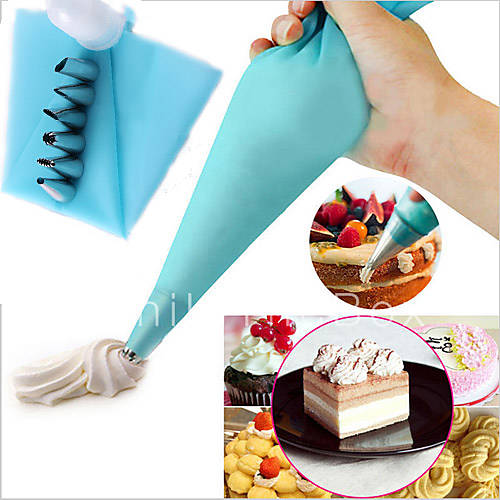 Caraselle Cake Decorating Set With 5 Nozzles And Piping Bag : Stainless Steel Nozzle Tips Silicone Cream Pastry Bag ...