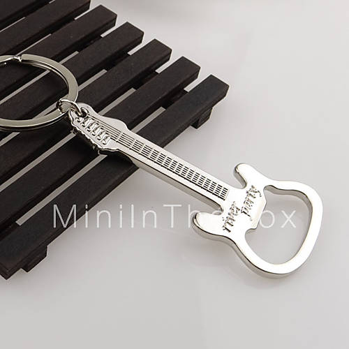gift zinc alloy beer guitar bottle opener bottle opener keychain keyring key chain key ring. Black Bedroom Furniture Sets. Home Design Ideas