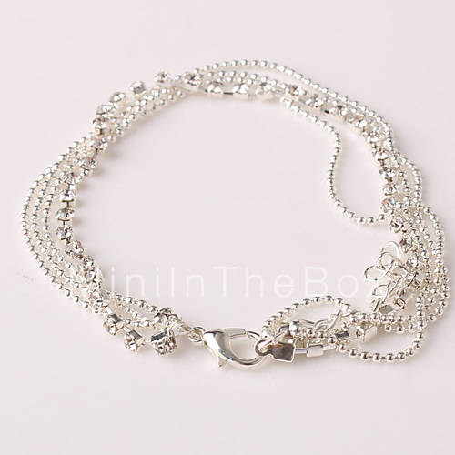 femme bracelet de cheville bracelet alliage strass imitation de diamant original mode bijoux. Black Bedroom Furniture Sets. Home Design Ideas