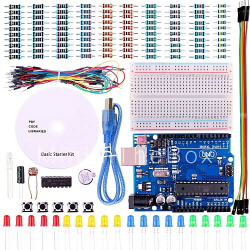 Uno project basic starter kit with tutorial and r for