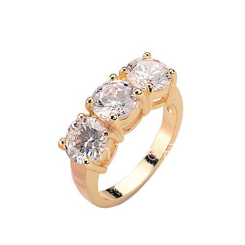 Anillos de dise o zirconio zirconia c bica moda dorado for Disenos de joyas en oro
