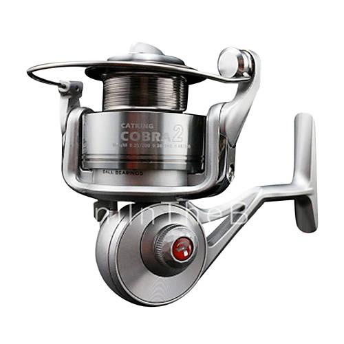 Carrete de la pesca Carretes para pesca spinning 5.5 6 Rodamientos de ...