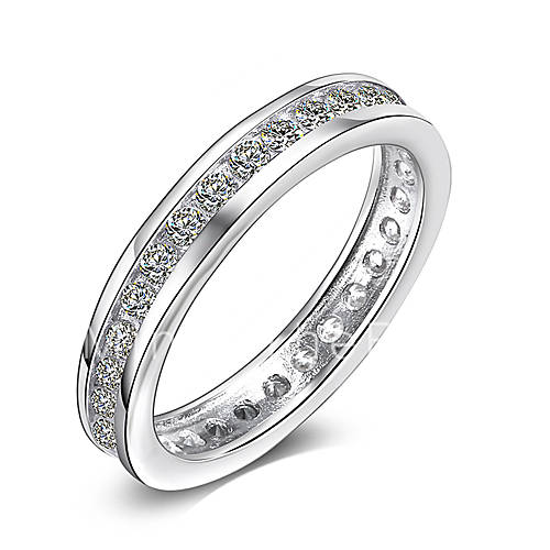 Simple Silver Wedding Rings For Women Simple 925 Ster...