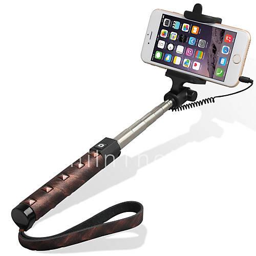 tredet selfie stick med en cable en selfie stick for android ios 5207384. Black Bedroom Furniture Sets. Home Design Ideas