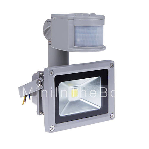Outdoor Security Lights Pir: 10W Motion Sensor LED Flood Light With PIR 800lm Super